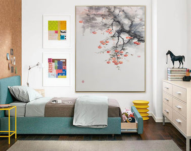 Large contemporary paintings, Large modern canvas wall art F215-9