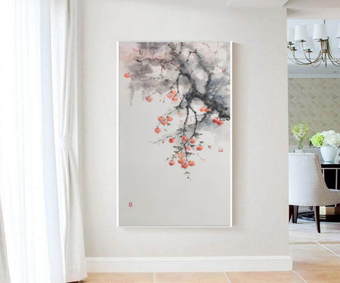 Large contemporary paintings, Large modern canvas wall art F215-1