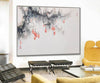 Large white wall art | Black grey and white paintings F293-5