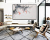 Large white wall art | Black grey and white paintings F293-9