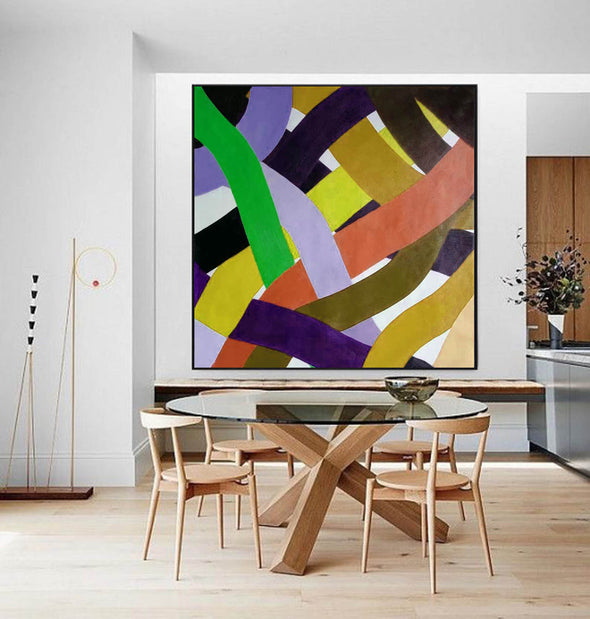 Oil on canvas art | Abstract acrylic painting on canvas F255-2
