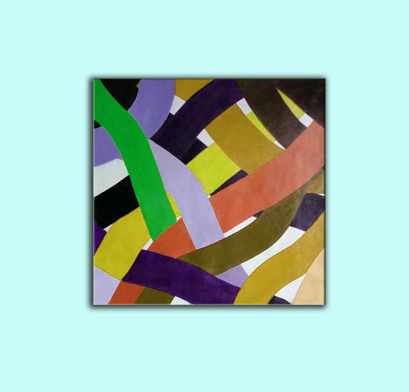 Oil on canvas art | Abstract acrylic painting on canvas F255-4