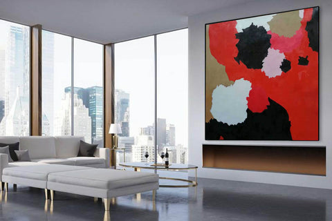 Image of Large abstract painting | Modern contemporary art F256-3