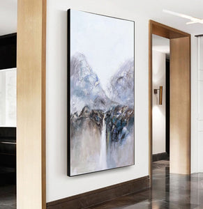 Very large canvas wall art, Large contemporary wall art paintings F219-1
