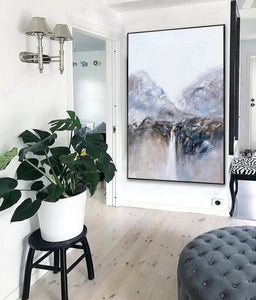 Very large canvas wall art, Large contemporary wall art paintings F219-3