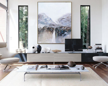 Very large canvas wall art, Large contemporary wall art paintings F219-5