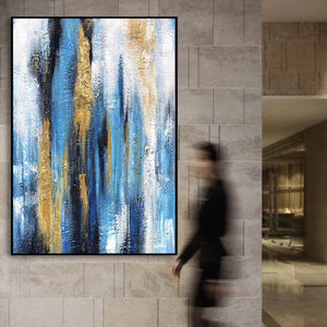 Oil painting art, Large canvas contemporary art F222-8