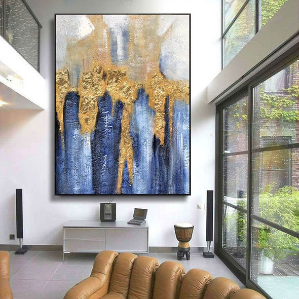 Large pop art canvas, Large grey wall canvas F223-1