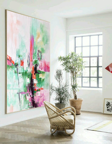 Image of Contemporary oil paintings, Large canvas wall F224-1