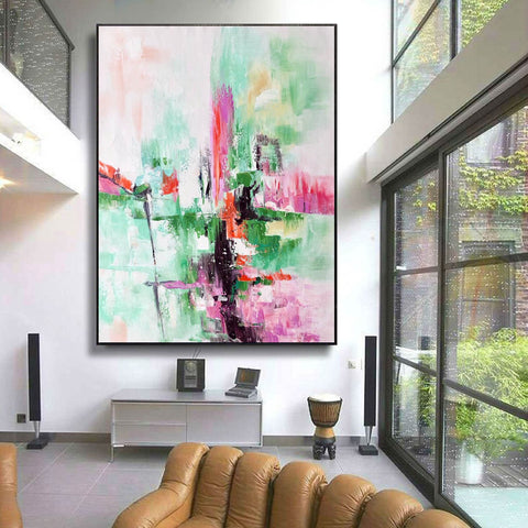 Image of Contemporary oil paintings, Large canvas wall F224-3