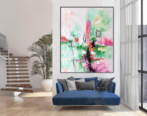 Image of Contemporary oil paintings, Large canvas wall F224-7