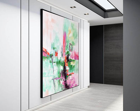 Contemporary oil paintings, Large canvas wall F224-8