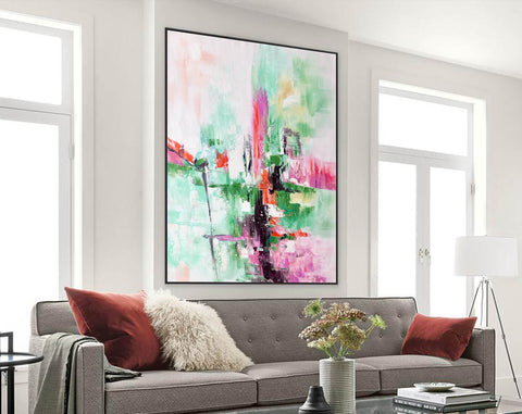 Image of Contemporary oil paintings, Large canvas wall F224-9