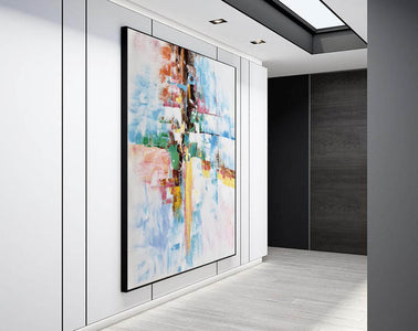 Original abstract paintings, Extra large contemporary art F225-2