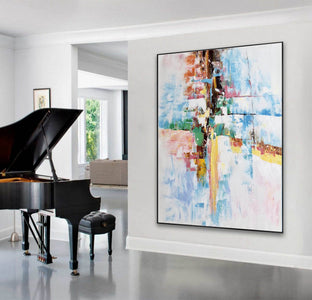 Original abstract paintings, Extra large contemporary art F225-3