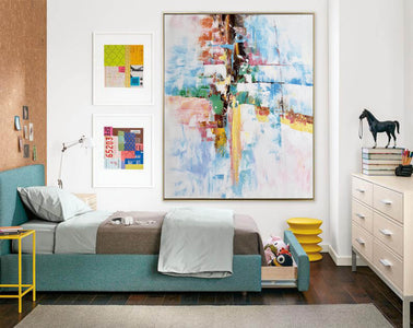 Original abstract paintings, Extra large contemporary art F225-6