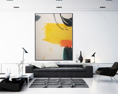 Large abstract painting, Big canvas wall art F198-10