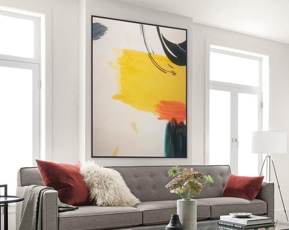 Large abstract painting, Big canvas wall art F198-4