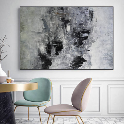 Image of Black and white paintings | Black and white art | Black and white abstract art F3-10