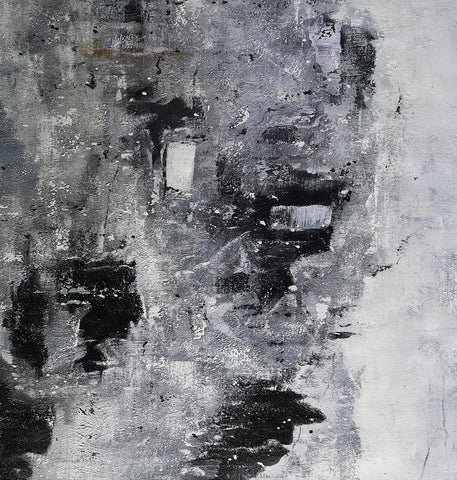 Image of Black and white paintings | Black and white art | Black and white abstract art F3-5
