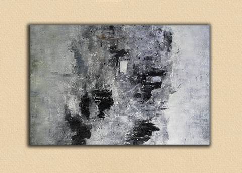 Image of Black and white paintings | Black and white art | Black and white abstract art F3-6