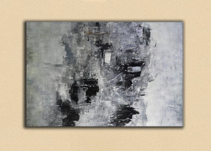 Black and white paintings | Black and white art | Black and white abstract art F3-6