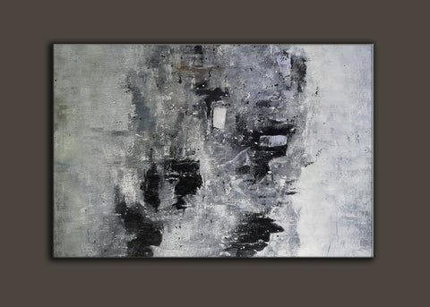 Image of Black and white paintings | Black and white art | Black and white abstract art F3-7