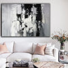 Painting art | Black and white canvas painting F4-1