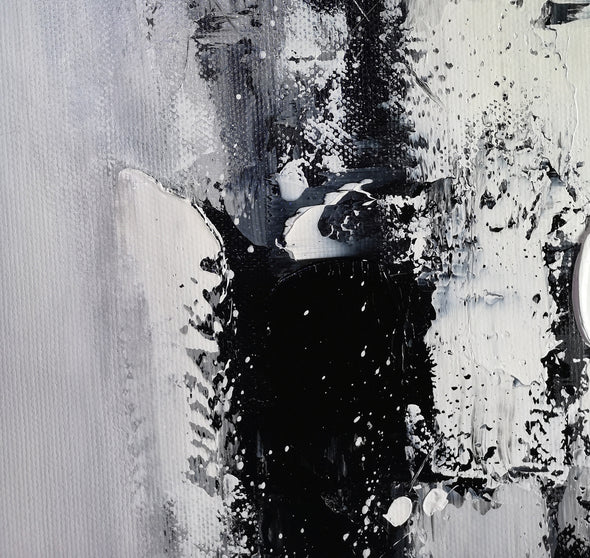Painting art | Black and white canvas painting F4-5