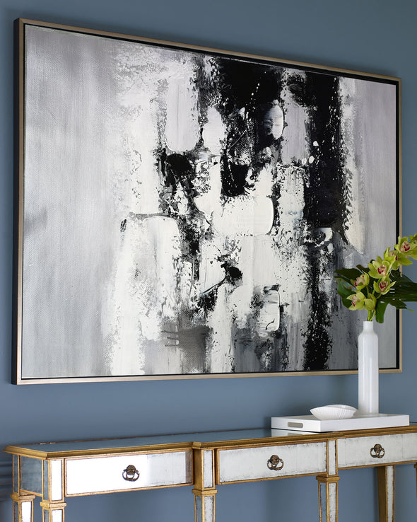Painting art | Black and white canvas painting F4-10