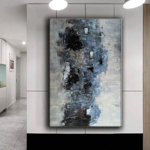 Black white art paintings | Black white abstract painting | Contemporary art F12-1