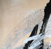 Black and white art paintings | White abstract painting F15-3