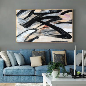 Paint abstract art canvas | Original abstract artwork  | Abstract canvas oil painting F16-8