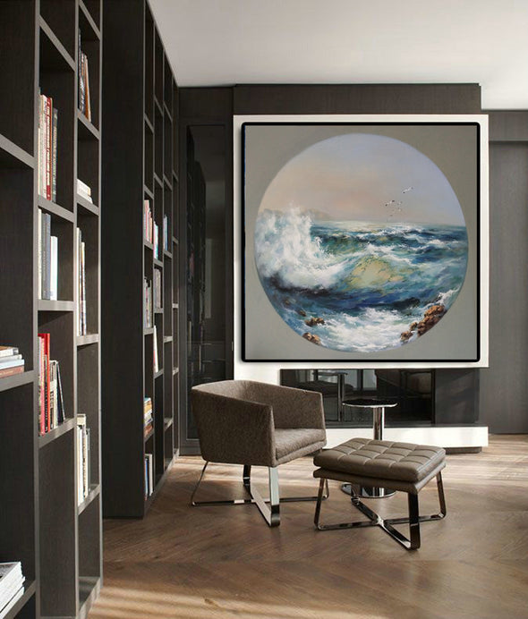Oil painting art | Large canvas contemporary art F18-9