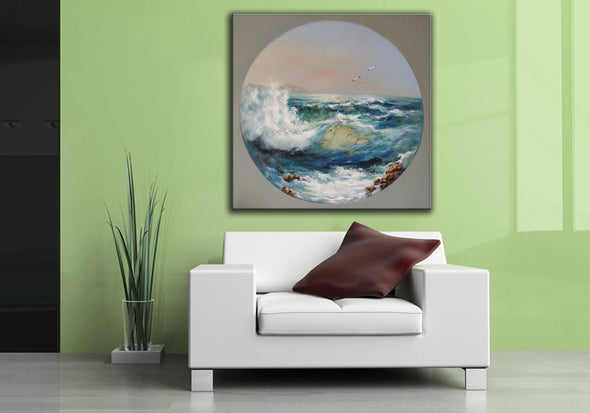 Oil painting art | Large canvas contemporary art F18-3