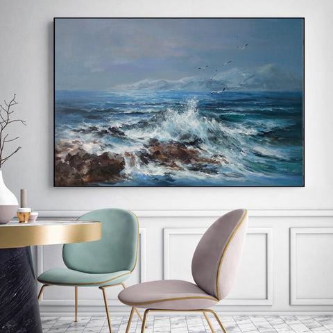 Abstract oil painting | Modern canvas art F20-1