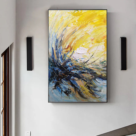 Image of Modern wall art | Modern paintings | Abstract wall art F24-9