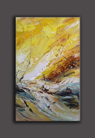 Image of Abstract canvas art | Contemporary painting | Abstract acrylic painting F26-7