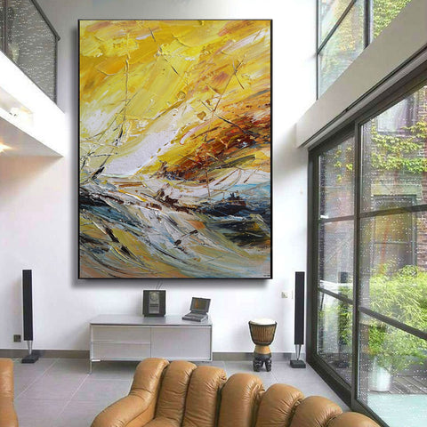 Image of Abstract canvas art | Contemporary painting | Abstract acrylic painting F26-2