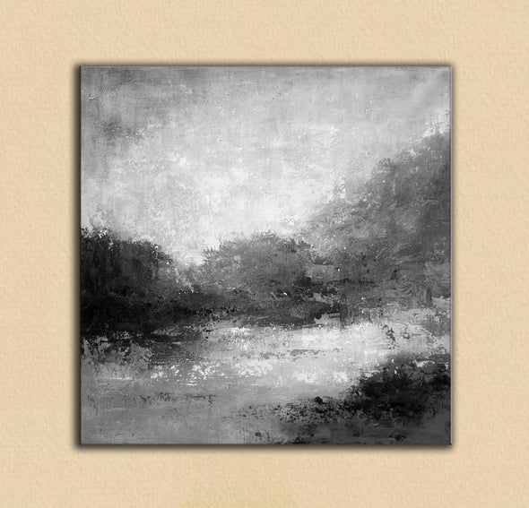 Black white abstract painting | Black white and grey paintings F29-7