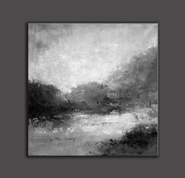 Black white abstract painting | Black white and grey paintings F29-8