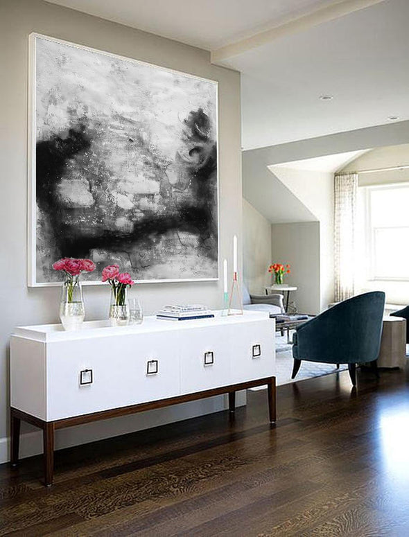 Black and white contemporary art | Black white art paintings F30-9