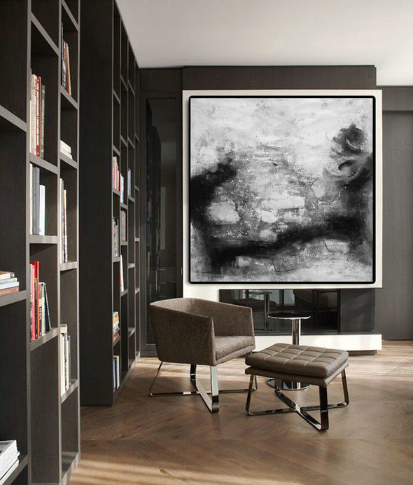 Black and white contemporary art | Black white art paintings F30-1