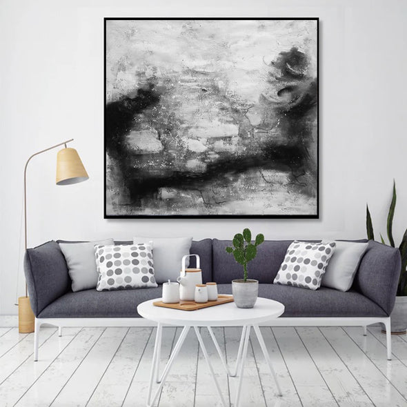 Black and white contemporary art | Black white art paintings F30-3