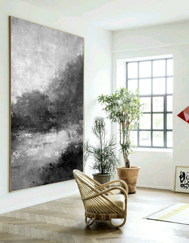 Image of Black and white abstract | Black and white artwork for living room | Black and white art abstract F33-1