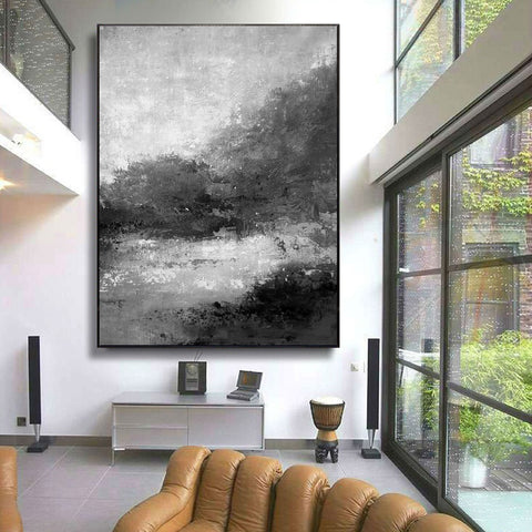 Image of Black and white abstract | Black and white artwork for living room | Black and white art abstract F33-4