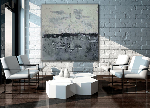 Abstract landscape painting | Modern canvas art | Canvas artwork F35-8