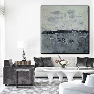 Abstract landscape painting | Modern canvas art | Canvas artwork F35-4