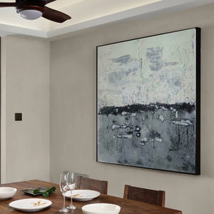 Abstract landscape painting | Modern canvas art | Canvas artwork F35-10
