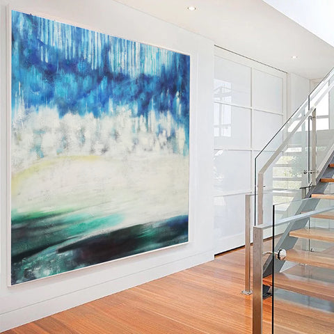 Image of Modern art gallery | Famous oil painting |  Abstract canvas painting F38-2